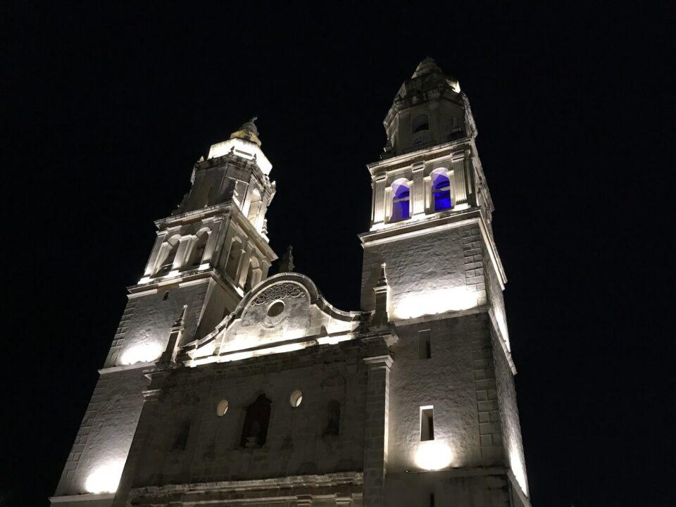 Campeche Church at night