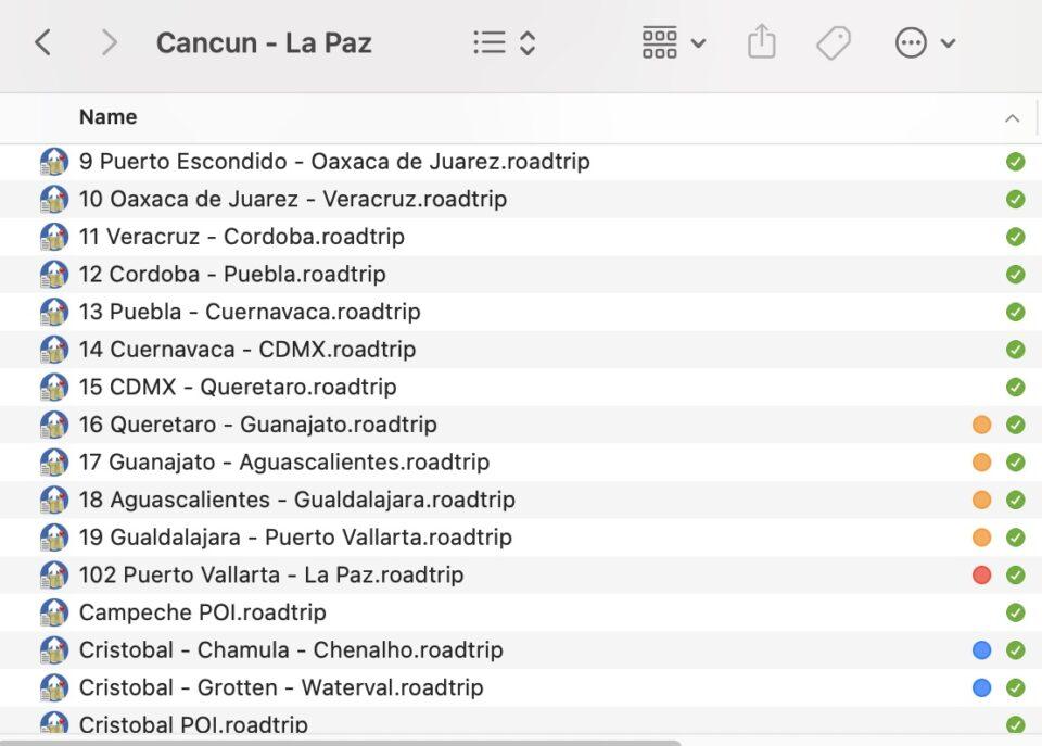 Route files through Mexico